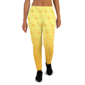 Yellow Ghost Sparkle Women's Joggers