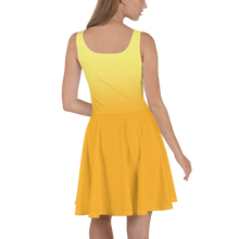Load image into Gallery viewer, Yellow Gradient Women's Skater Dress