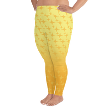 Load image into Gallery viewer, Yellow Ghost Sparkle Women's Plus Size Leggings