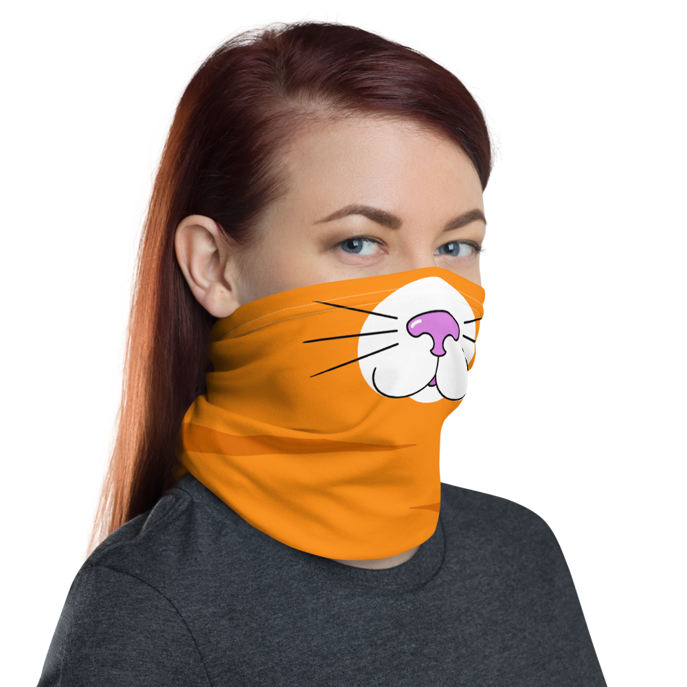 Orange Kitty Face Cover