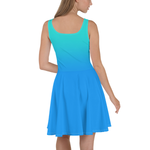 Blue Gradient Women's Skater Dress