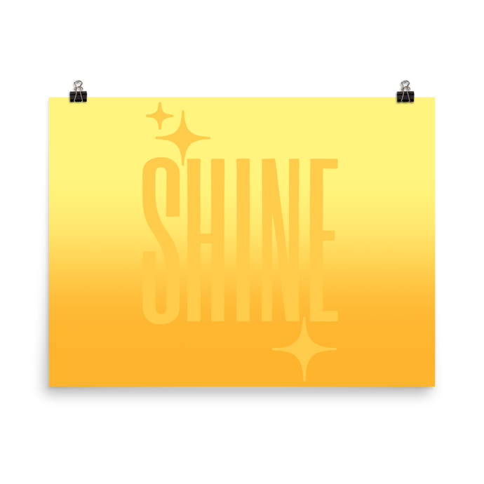 Shine Ghost Text Poster - Rhonda World