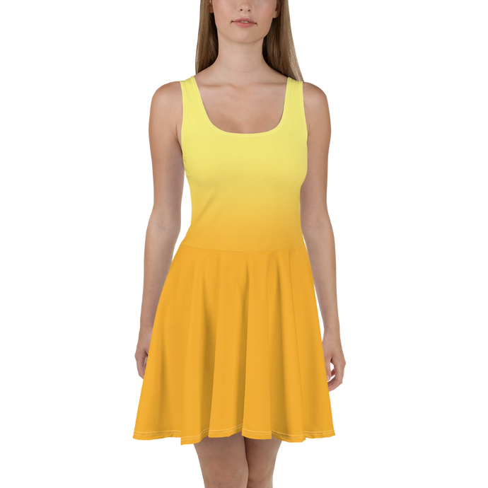 Yellow Gradient Women's Skater Dress