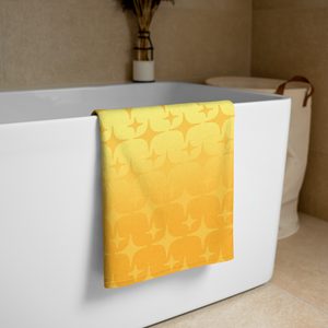Yellow Ghost Sparkle Towel - Rhonda World
