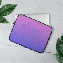 Load image into Gallery viewer, Sparkle Ghost Text Laptop Sleeve