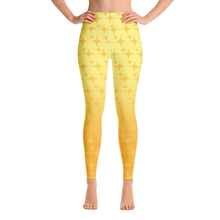 Load image into Gallery viewer, Yellow Ghost Sparkle Women's Leggings