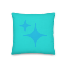 Load image into Gallery viewer, Reversible Blue Sparkle Pillow