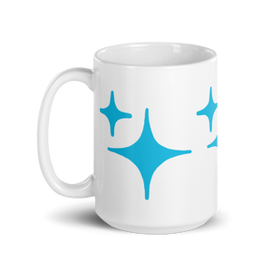 Blue Sparkle Mug - Rhonda World