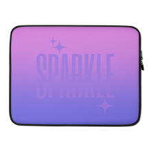 Load image into Gallery viewer, Sparkle Ghost Text Laptop Sleeve - Rhonda World