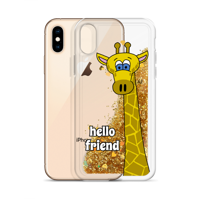Friendly Giraffe Glitter Phone Case (iPhone 7/8/X/XS/XR)