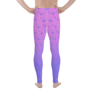Purple Ghost Sparkle Men's Leggings