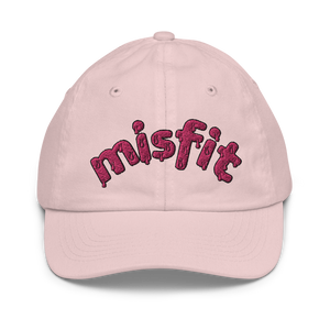 Misfit Embroidered Kid's Baseball Cap