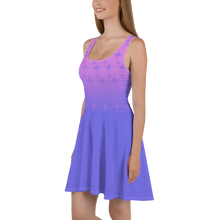 Load image into Gallery viewer, Purple Ghost Sparkle Women's Skater Dress