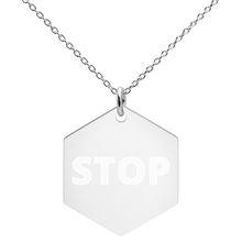 Load image into Gallery viewer, Stop Sign Engraved Necklace