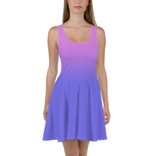 Load image into Gallery viewer, Purple Gradient Women's Skater Dress - Rhonda World