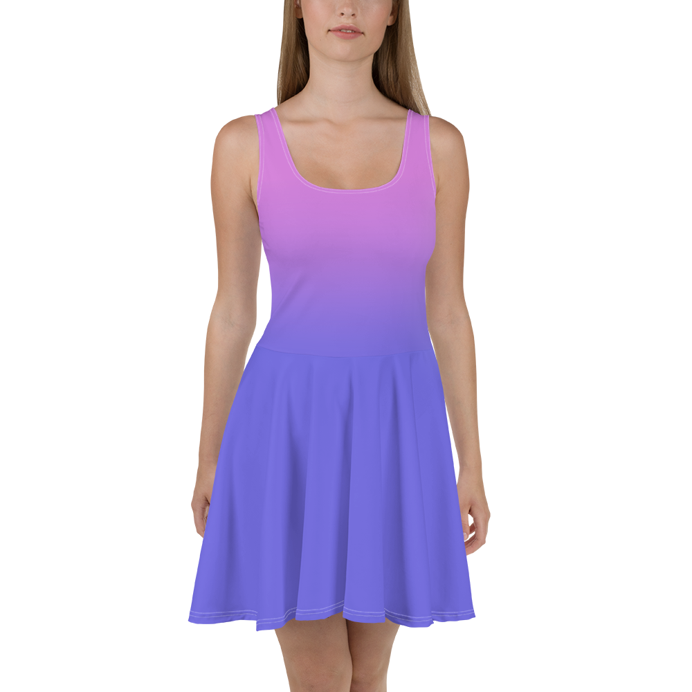 Purple Gradient Women's Skater Dress - Rhonda World