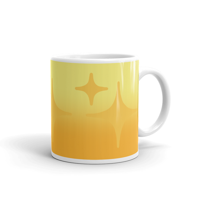 Yellow Ghost Sparkle Mug