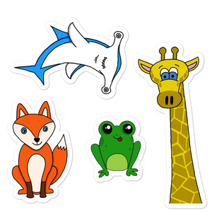 "Animal Friends 5.5"" Sticker Set"