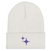 Load image into Gallery viewer, Purple Sparkle Embroidered Beanie