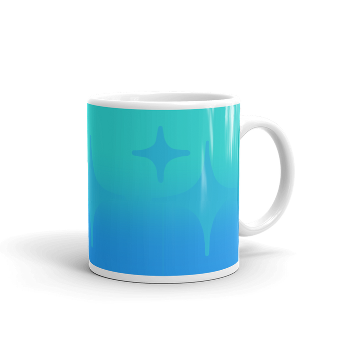 Blue Ghost Sparkle Mug