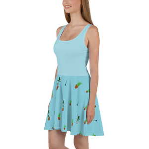 House Plants Print Women's Skater Dress