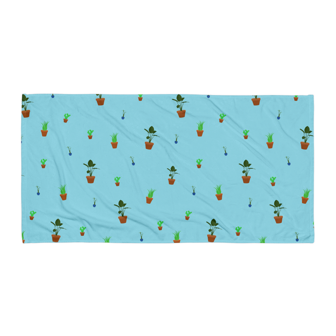 House Plants Print Beach Towel