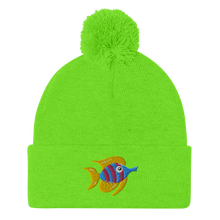 Load image into Gallery viewer, Tropical Fish Pom-Pom Beanie