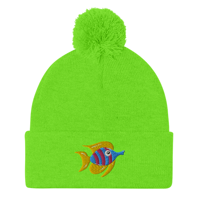 Tropical Fish Pom-Pom Beanie