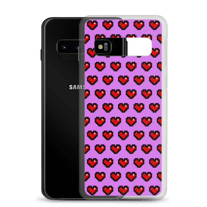 Purple Squad Hearts Phone Case (Samsung Galaxy S10/S10+/S10e/S20/S20 Plus/S20 Ultra)
