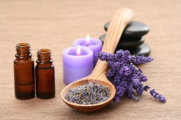 Preparation of skin care routine apply essential oil on problem spots