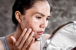 Preparation of skin care routine identify the concern