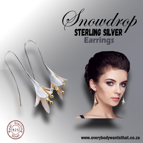 Snowdrop Sterling Silver Earrings