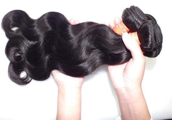 12 Inch Brazilian Virgin Hair Body Wave Hair Wig Natural Black