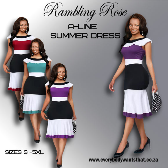 Rambling Rose A-Line Summer Dress (S-5XL)
