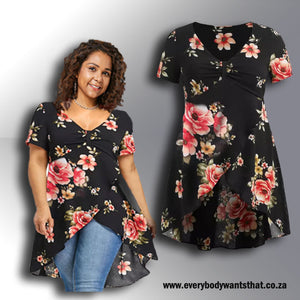 Rose Parade Asymmetrical Hem Top