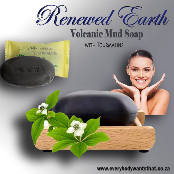 Renewed Earth Volcanic Mud Soap with Tourmaline