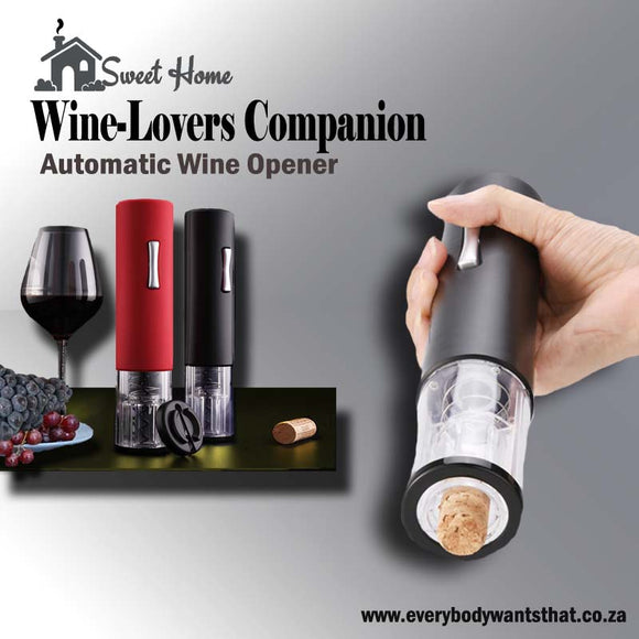 Wine-Lovers Companion Automatic Wine Opener with Foil Cutter