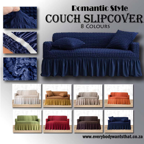 Romantic Style Couch Slipcover (8 Colours)