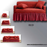 Romantic Style Couch Slipcover with matching Pillowcases (8 Colours)
