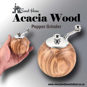 Acacia Wood Pepper Grinder