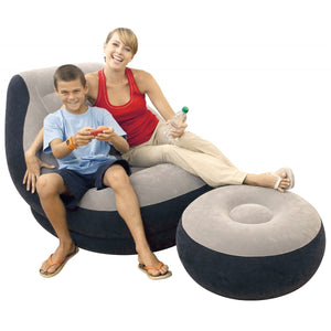 Ultra Lounge and Ottoman