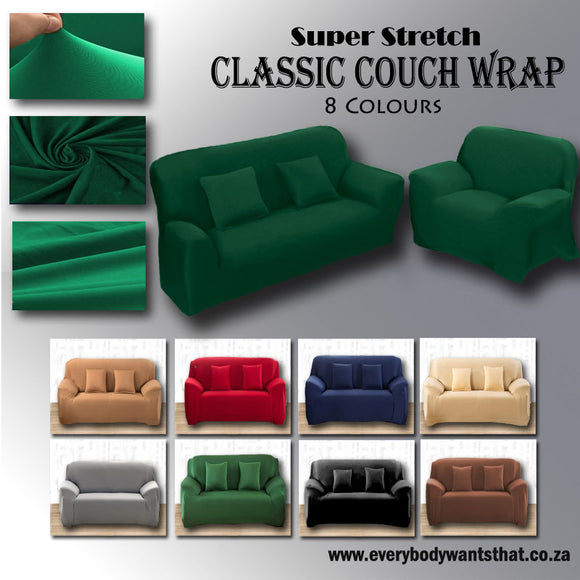 Super Stretch Classic Couch Wrap Set(Medium/Large)
