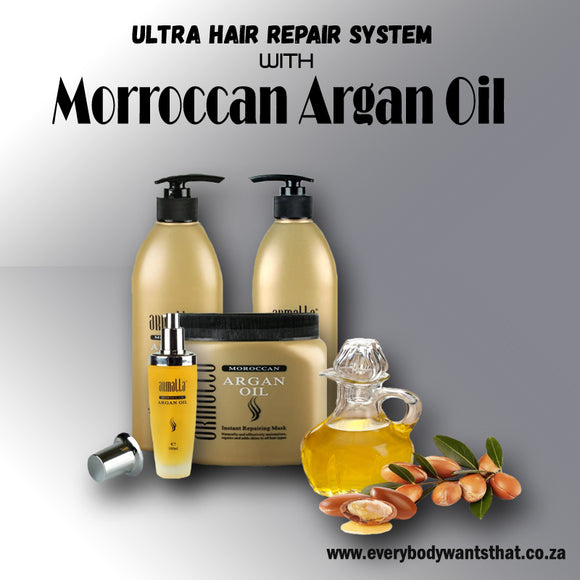 Ultra Hair Repair System with Moroccan Argan Oil (4 Piece Set)