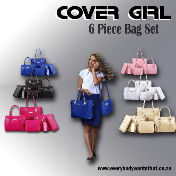 Cover Girl 6 Piece Handbag Set