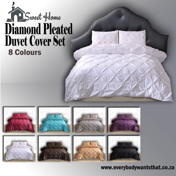 Diamond Pleat Duvet Set