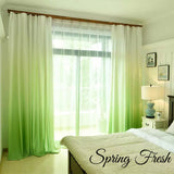 Rainbow Ombre Blackout Curtain Set