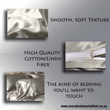 Scandinavian Design Satin Bedding Set (7 Colours)