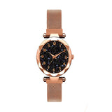 Luxury Starry Night Ladies Watch with Magnetic Buckle