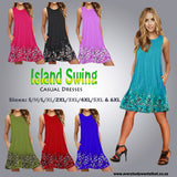 Island Swing Casual Dress S-6XL 7 Colours