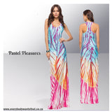 Rainbow Bodycon Maxi Dress
